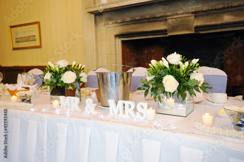 Top table at wedding