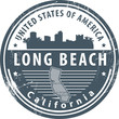 Grunge rubber stamp with name of California, Long Beach, vector