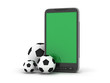 Soccer balls and mobile phone