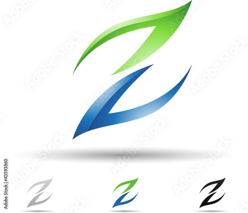 Vector illustration of abstract icons of letter Z - Set 6