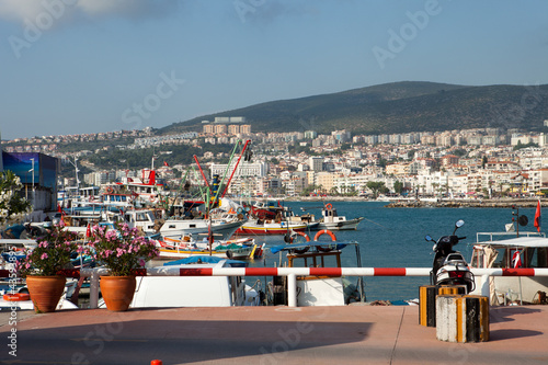 View of Kusadasi town. Turkey