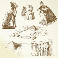 egypt - hand drawn set