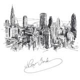 new york - hand drawn metropolis - 43594214
