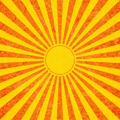 Sun with rays illustration