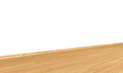 Wand mit Holzboden diagonal - Kirsch (Europäisch)