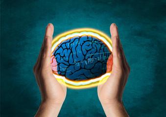 Cerebro entre Las Manos