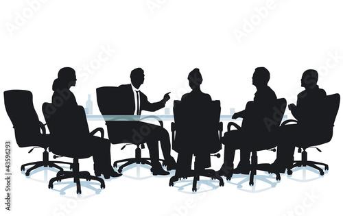 Sitzung Büro Gespräch