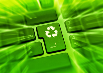 Zoom dynamique touche recyclage clavier vert