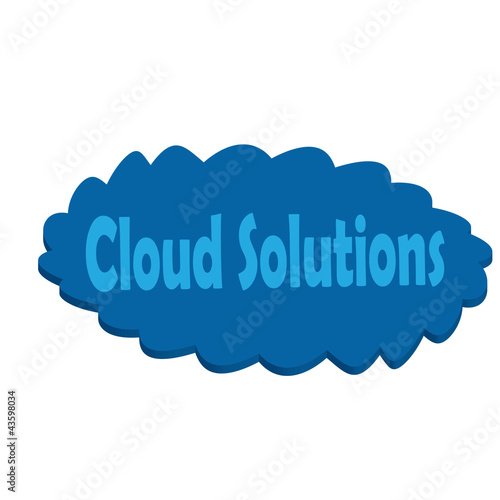 Cloud solutions 3d render on white background