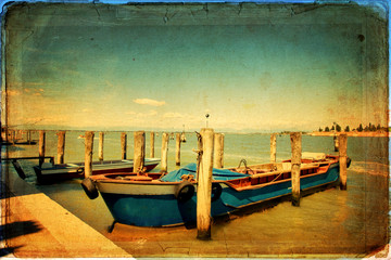 Venetian Lagoon - old card - old paper
