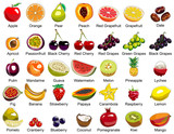 Fototapety 35 Fruits icons