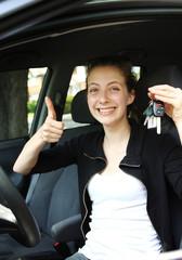Proud teen driver