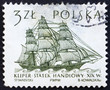 Postage stamp Poland 1964 Dutch Merchant Ship, Sailing Ship