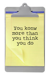Clip Board with Motivation Message