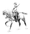 Rider - Militaria 19th century