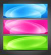Set of color blurred  banner