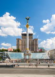 Independence square, the main square of Kyiv, Ukraine