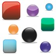 set of vector colorful glossy web icon button