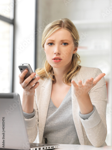 businesswoman with cell phone