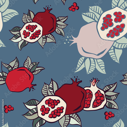 pomegranate seamless background