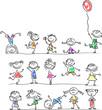 Постер, плакат: Смазливая счастливые дети мультфильм
