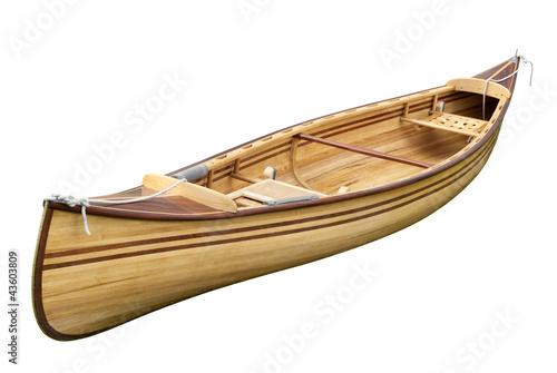 Kleines Ruderboot isoliert auf weiß