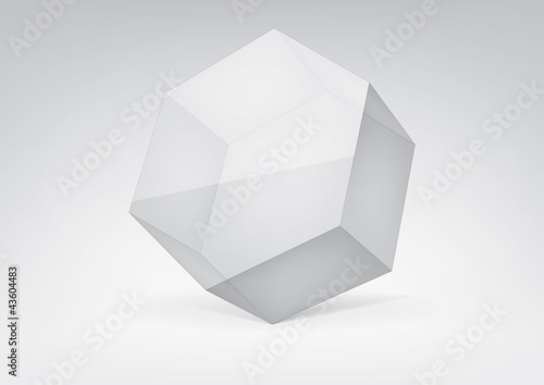 Vector transparent hexagonal prism  for your graphic design
