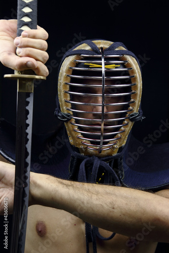 Closeup of  kendo man