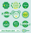 Vector Set: Tennis Champ Labels