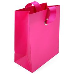 Rosa Geschenktasche