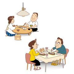 昔の食事と今の食事