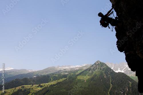 Summer rock climbing