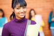 pretty female indian college student portrait