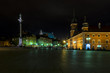 Old Town in Warsaw during the nighht