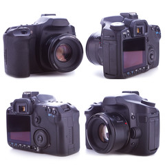 the sides of a professional digital camera