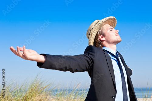 freiheit mann strand