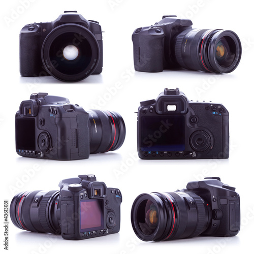professional digital camera with a 24-70mm zoom lens
