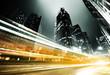 Leinwanddruck Bild - traffic in Hong Kong at night