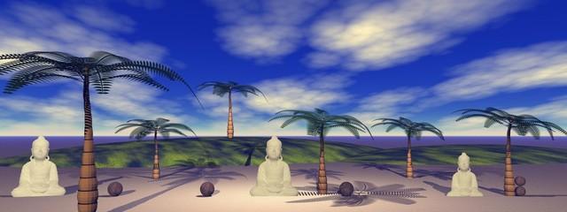 buddha and landscape