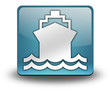 "Light Blue 3D Effect Icon ""Ship / Water Transportation"""