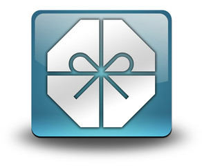 "Light Blue 3D Effect Icon ""Gift / Present"""