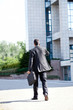 Business man leaving after a working day