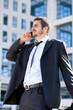 Businessman on a phone