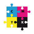 puzzle in CMYK