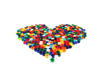 heart from color caps