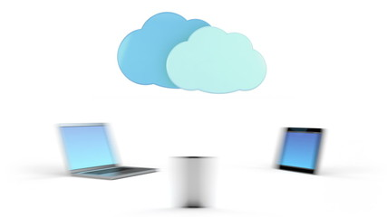 cloud computing concept - high quality 3d animation