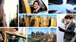 Montage Young Businesswoman City New York