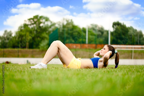 Sport woman doing exercise
