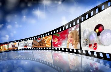 Farbfilm mit Weihnachtsmotiven