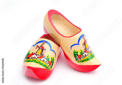 Canvas Amsterdam Dutch Wooden Shoes
